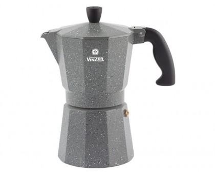 VINZER Гейзерная кофеварка 89399 Moka Granito на 9 чашек