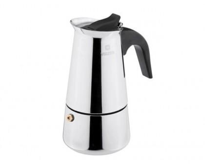 VINZER Гейзерная кофеварка 89392 Moka Inox Induction на 6 чашек