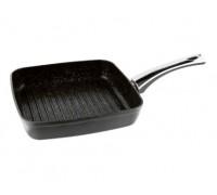 VINZER Сковорода - гриль 89438 Granite induction 26х26 см